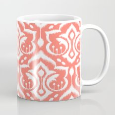 Ikat Damask Coral Mug