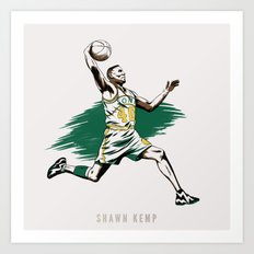 Shawn Kemp Art Print