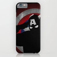 iPhone & iPod Case featuring SuperHeroes Shadows : Captain America by Lily's Factory