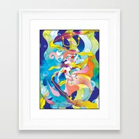 King Triton's Daughter Framed Art Print