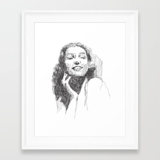 Rita Hayworth Portrait Framed Art Print