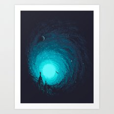 Calm Night To Fly Art Print