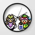 Zelda and Link Wall Clock
