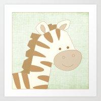 Zebra Jungle Series Prin… Art Print