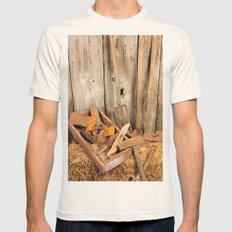 Rusted tools Mens Fitted Tee Natural SMALL