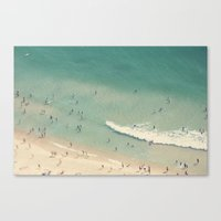 beach love II - Nazare Canvas Print