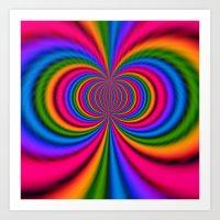 Rainbow Twist Art Print