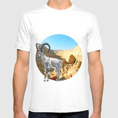 Nubian Ibex Mens Fitted Tee White SMALL