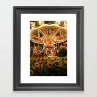 Merry-fields-go-round Framed Art Print
