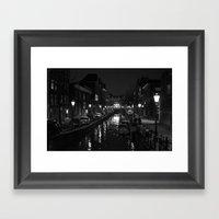 Amsterdam By Night - Can… Framed Art Print