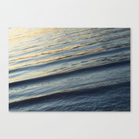 The Lake at the sunset Canvas Print