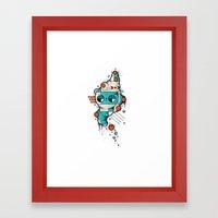 Muscle cat Framed Art Print