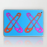 Safety Pin Me Down Laptop & iPad Skin