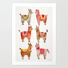 Alpacas Art Print