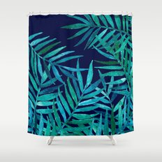 Watercolor Palm Leaves O… Shower Curtain