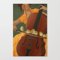 Birds on the Bow Canvas Print