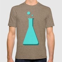 Erlenmeyer Mens Fitted Tee Tri-Coffee SMALL