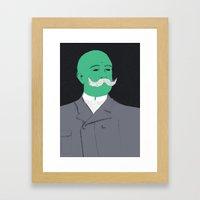 Stache man Framed Art Print