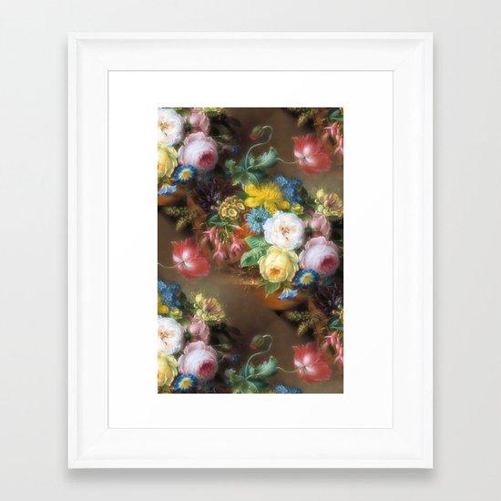 Soft Summer Bouquet Framed Art Print