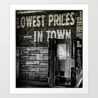 Lowest Prices in Town Art Print