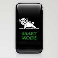 Beast Mode Pug iPhone & iPod Skin