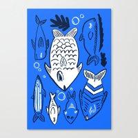 Poissons de La Mer Canvas Print