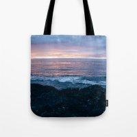 Violet Coast Tote Bag