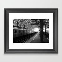 The End Of The Line Framed Art Print