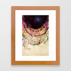 Black Hole in the Woods Framed Art Print