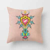 The Heart Rules Throw Pillow