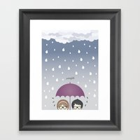 Oh, Rainy Day! Framed Art Print
