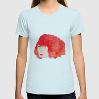 Fire Head Womens Fitted Tee Light Blue SMALL