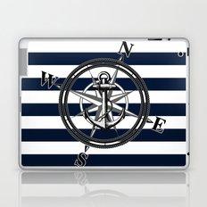 Navy Striped Nautica Laptop & iPad Skin