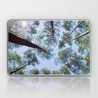 Sunny sky over the pines Laptop & iPad Skin