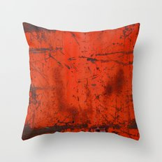 Red Roof Hatch Throw Pillow