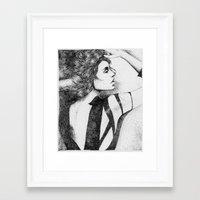 In Dots Framed Art Print