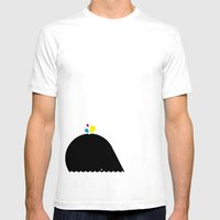CMYK Whale Mens Fitted Tee White SMALL