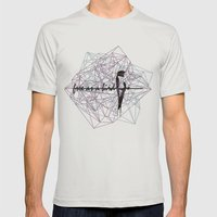 Free As A Bird Mens Fitted Tee Silver SMALL