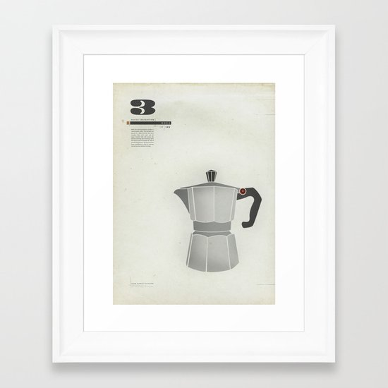Coffee Contraption #3: Moka Framed Art Print