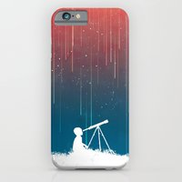 iPhone Cases featuring Meteor Rain (light version) by Budi Kwan