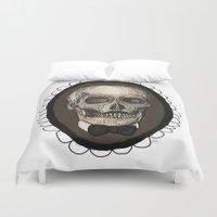 Dapper Skull  Duvet Cover