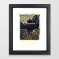 Mission Fountain Framed Art Print