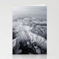 Winter Mountain Range Stationery Cards