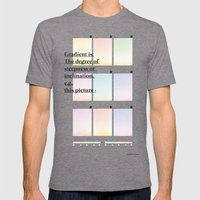 Gradient (English) Mens Fitted Tee Tri-Grey SMALL