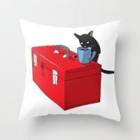 Chat Noir Beverage Tipper Throw Pillow
