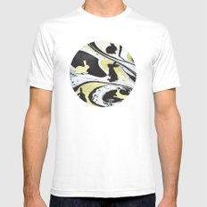 Rabbits No. 1 Mens Fitted Tee White SMALL