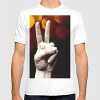 Peace Mens Fitted Tee White SMALL