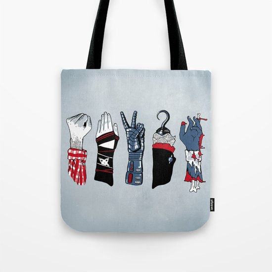 Epic Rock Paper Scissors Battle Tote Bag
