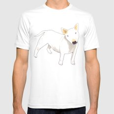 Bull Terrier White SMALL Mens Fitted Tee