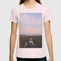 Rushup Edge At Sunset. D… Womens Fitted Tee Light Pink SMALL
